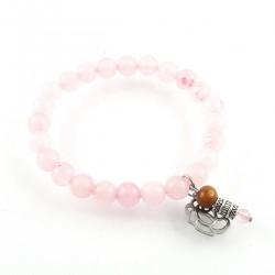 BRA quartz rose élastique