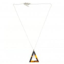 COL triangle façon écaille et acier inox
