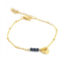 BRA chaîne dorée 3 perles - sublime