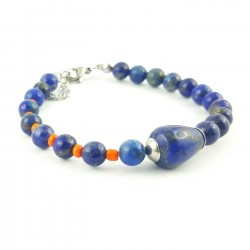 BRA lapis lazuli et orange - bohemian