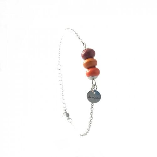 BRA chaîne 3 perles céramique