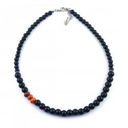 COL perles noires + 3couleurs