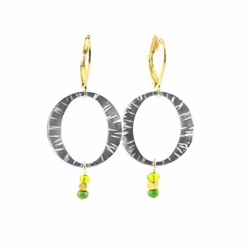 BO rond strié + perles - Prima