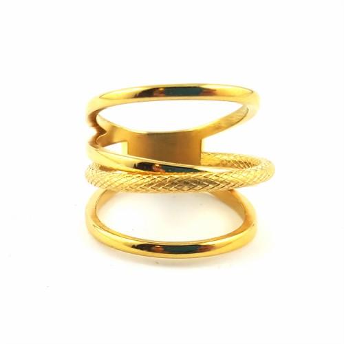 BAG anneaux multipl. entrela. dorée