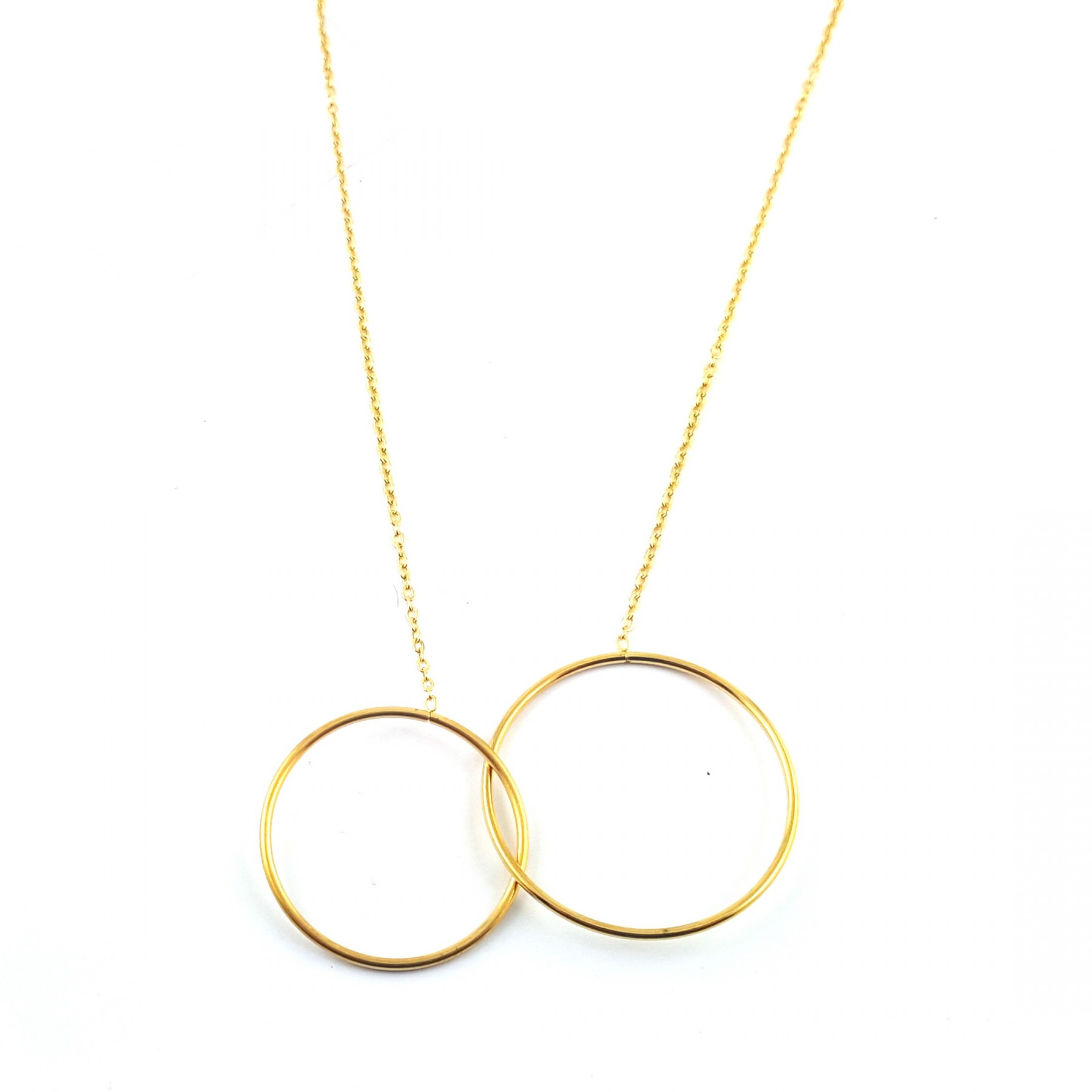 COL double cercle doré
