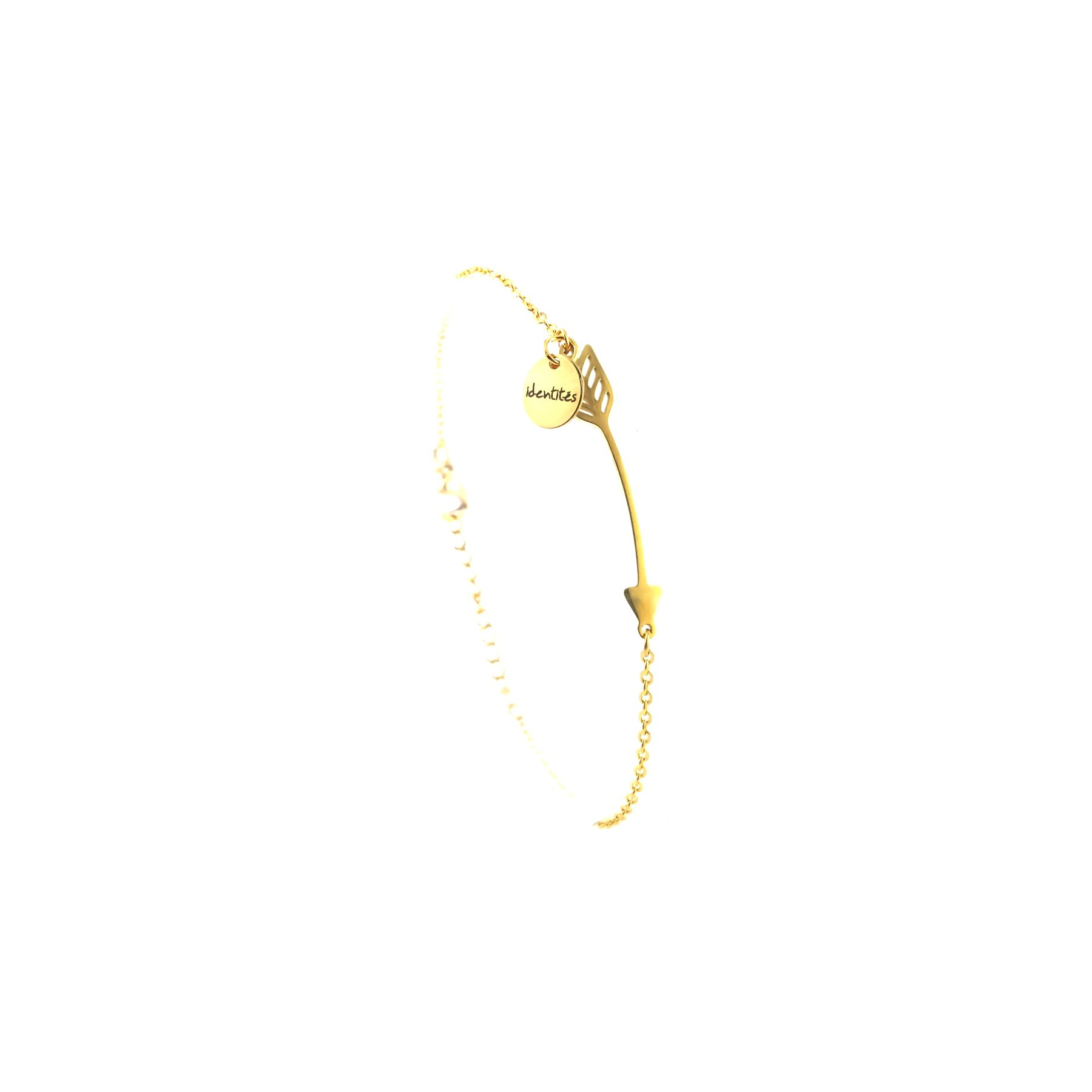 BRA flèche boho sur chaîne - doré jaune
