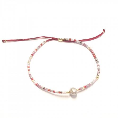 Bracelet coulissant mini perles