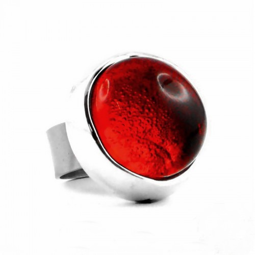 Bague pop rouge translucide