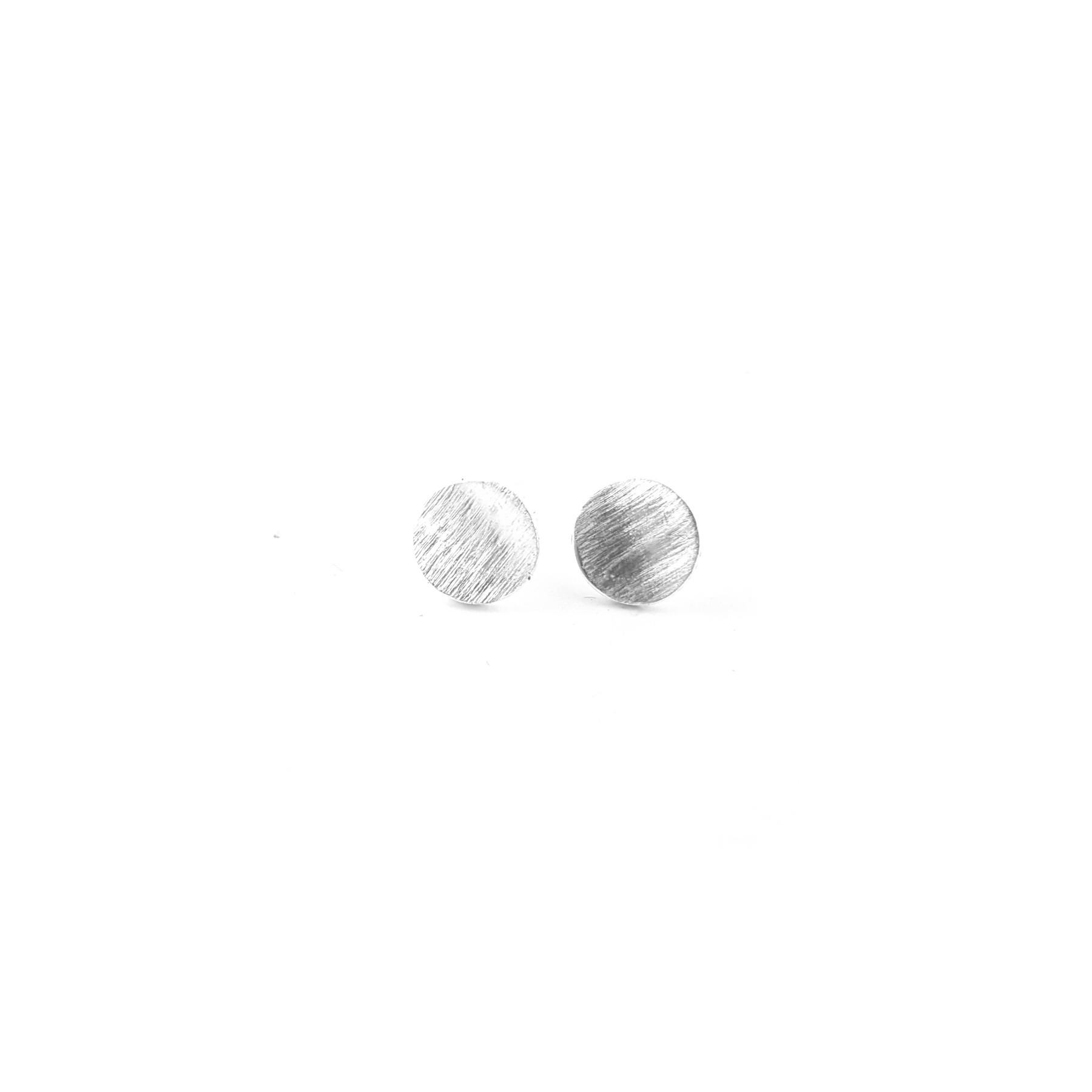BO puces paraboles 7mm étain brossé