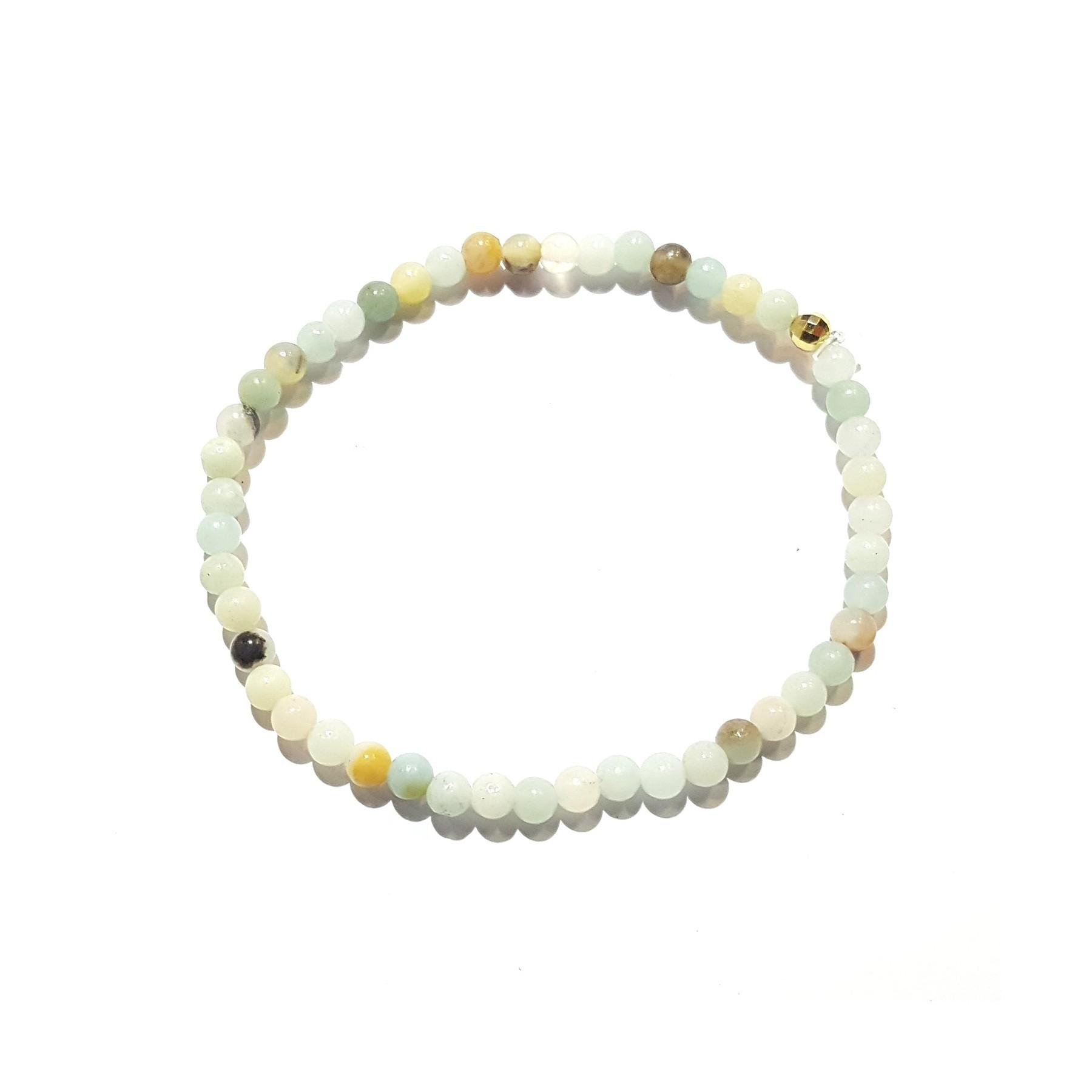 Bracelet amazonite élastique
