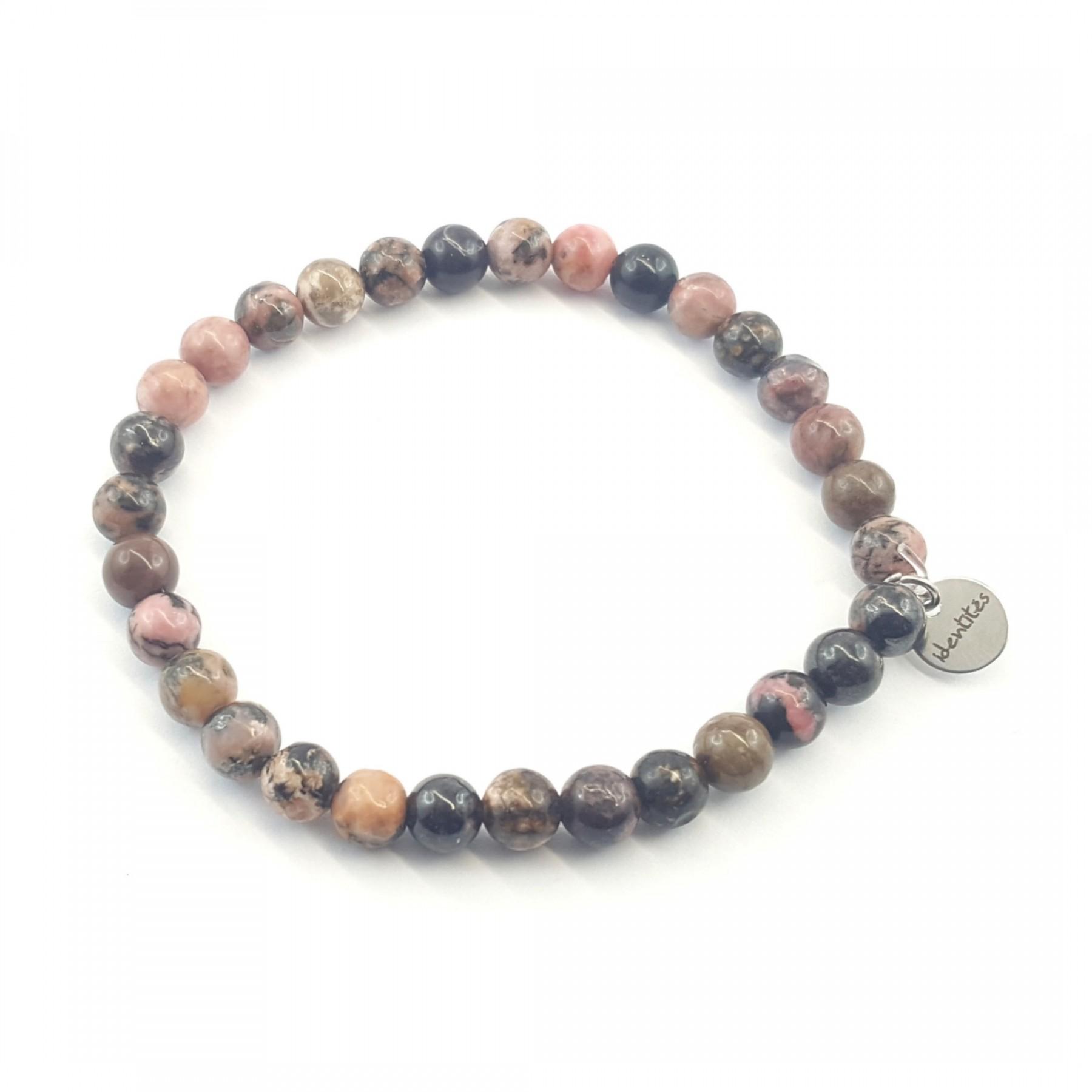 Bracelet élastique rhodonite 6mm