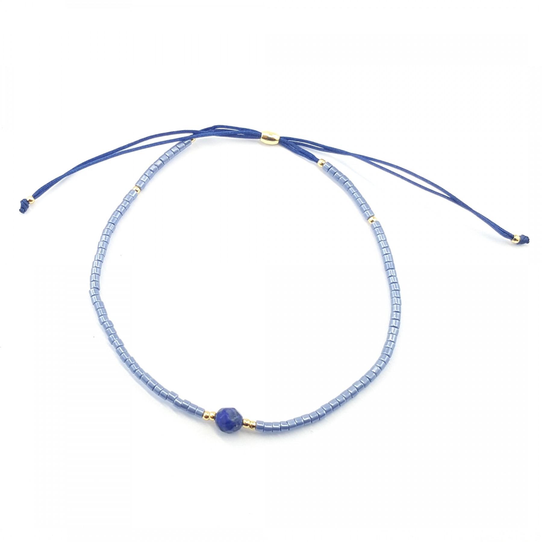 Bracelet coulissant lapis lazuli