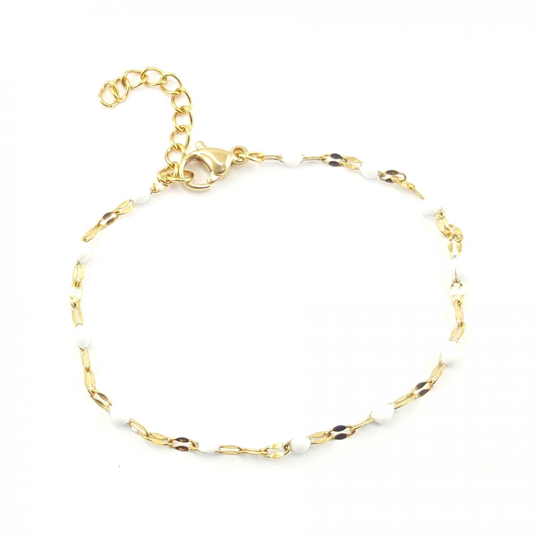Bracelet chaîne émaillée