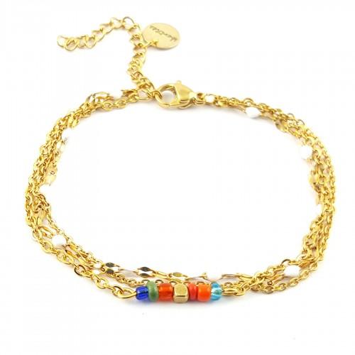 Bracelet chaînes multiples