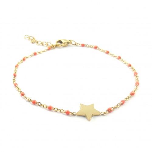 Bracelet étoile sur chaîne emaillée