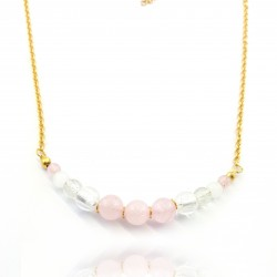 Collier court quartz rose