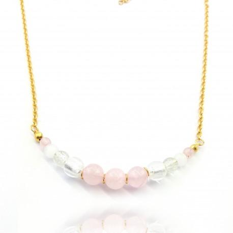 Collier court quartz rose