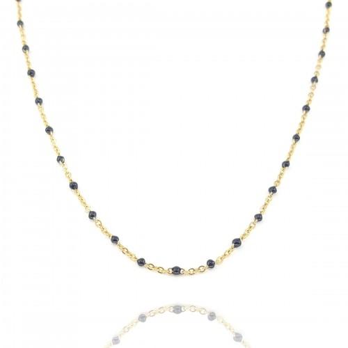 Collier chaîne émaillé noire