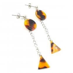 BO vintage triangle sur chaîne et rond -