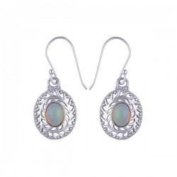 Boucles vintage argent et opale
