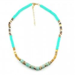 Collier surfer amazonite