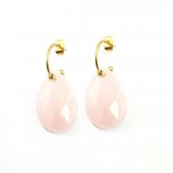 Boucles quartz rose