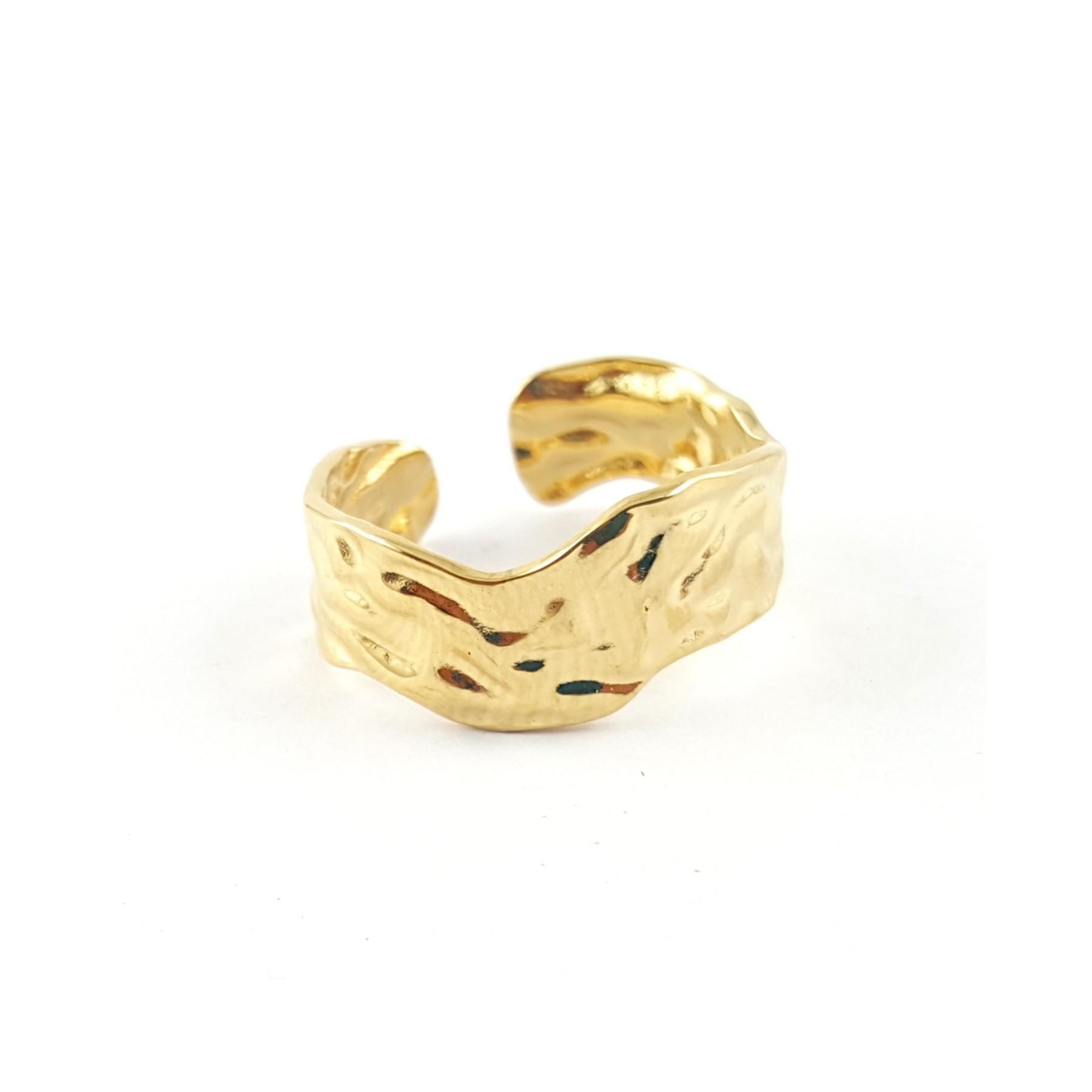 Bague froissée dorée