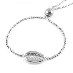 Bracelet coquillage acier