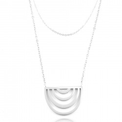 Collier 2 rangs demi-cercle