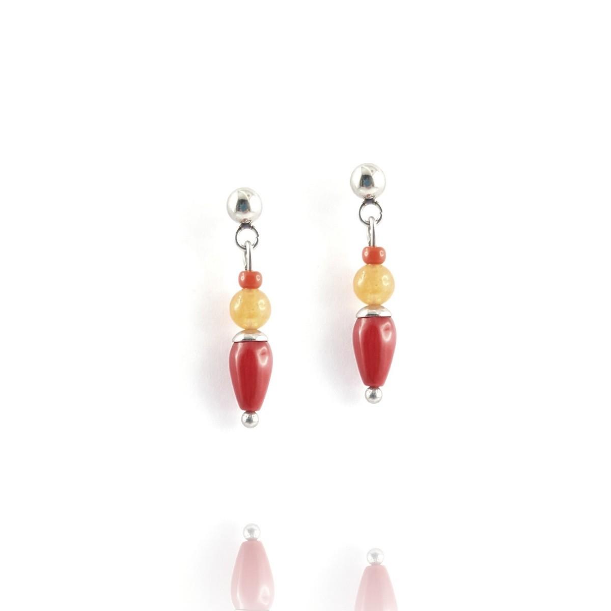Clous pendants cornaline