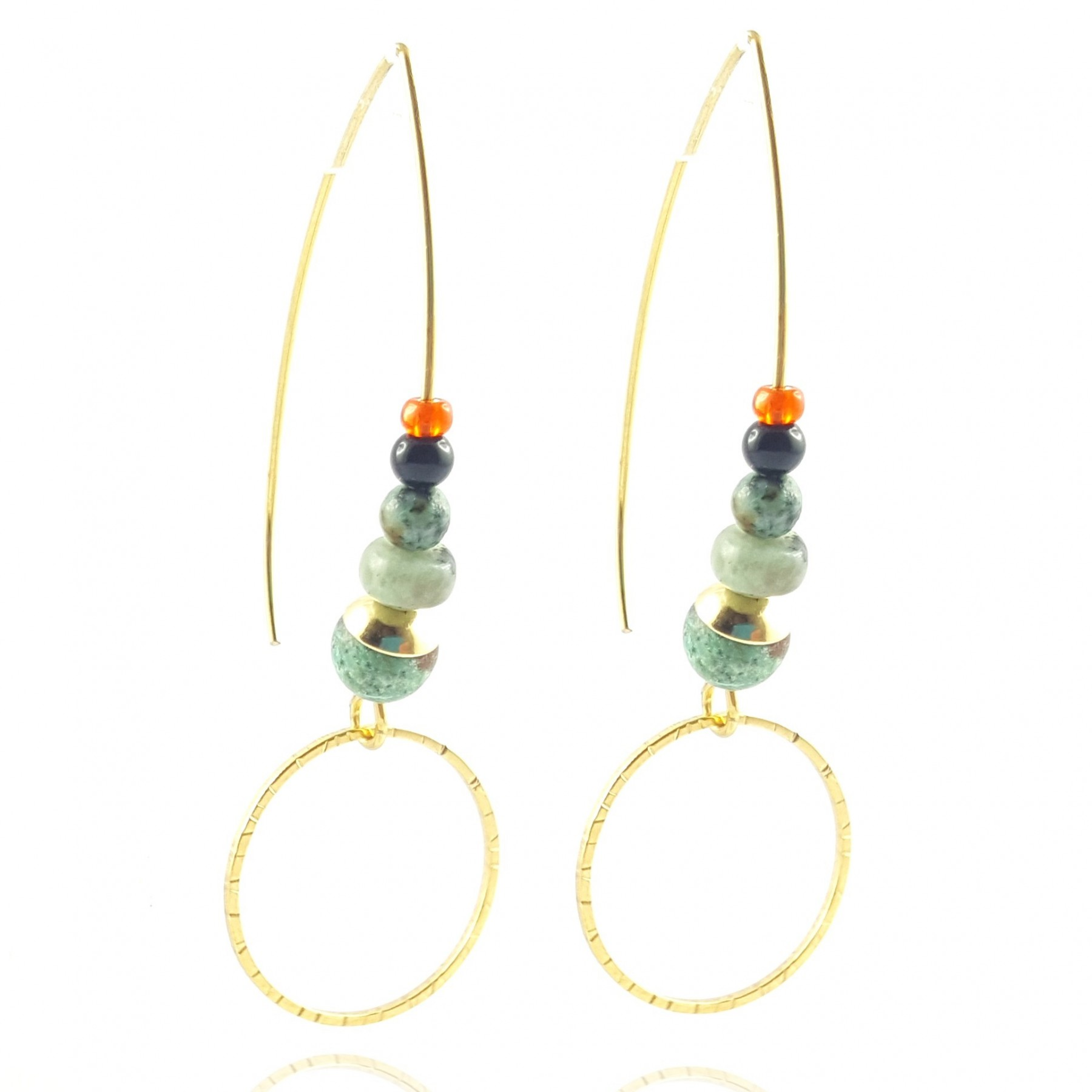 Grandes boucles turquoise africaine