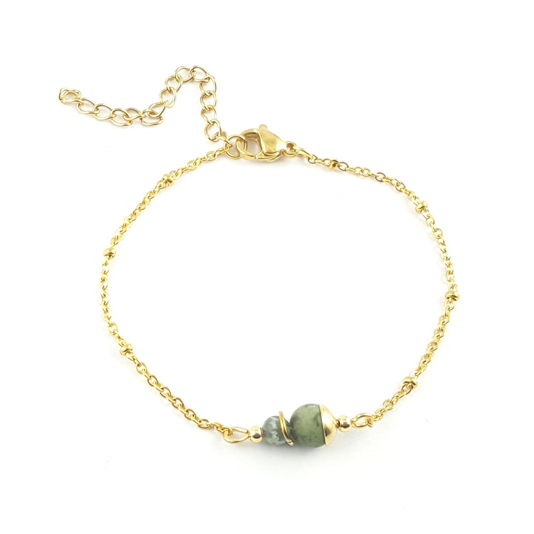 Bracelet chaîne turquoise africaine