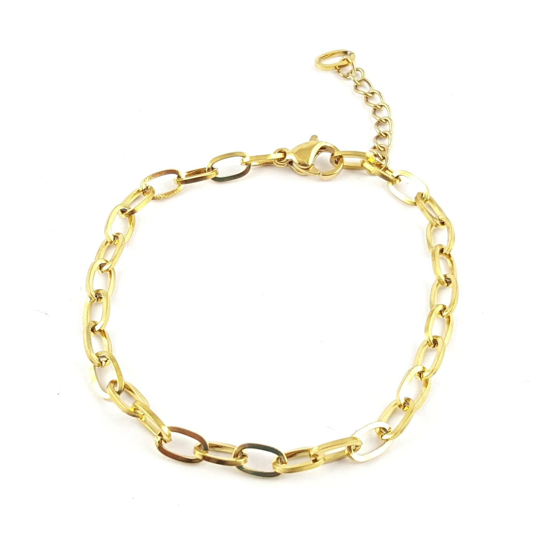 Bracelet chaîne maille large