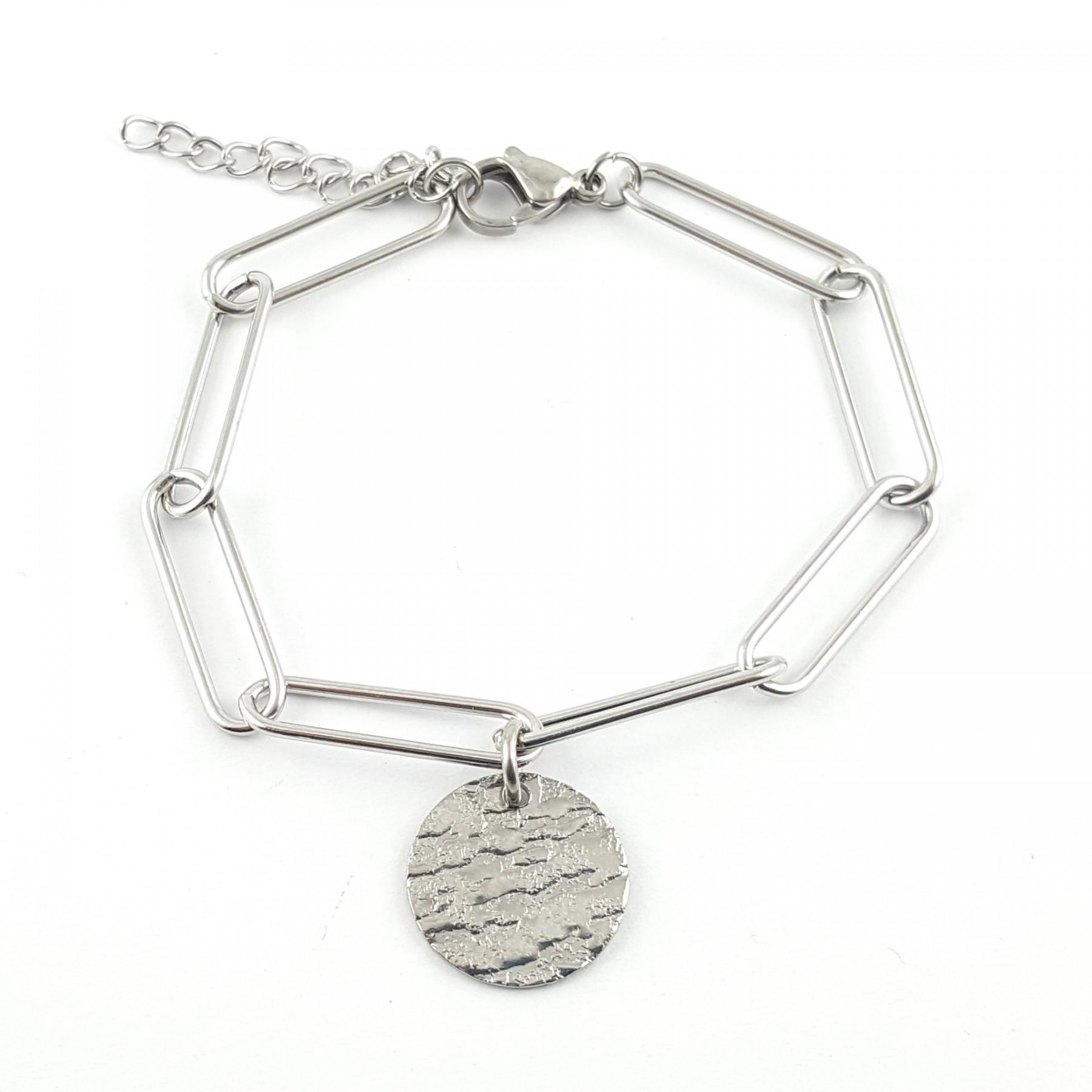 Bracelet chaîne grande maille
