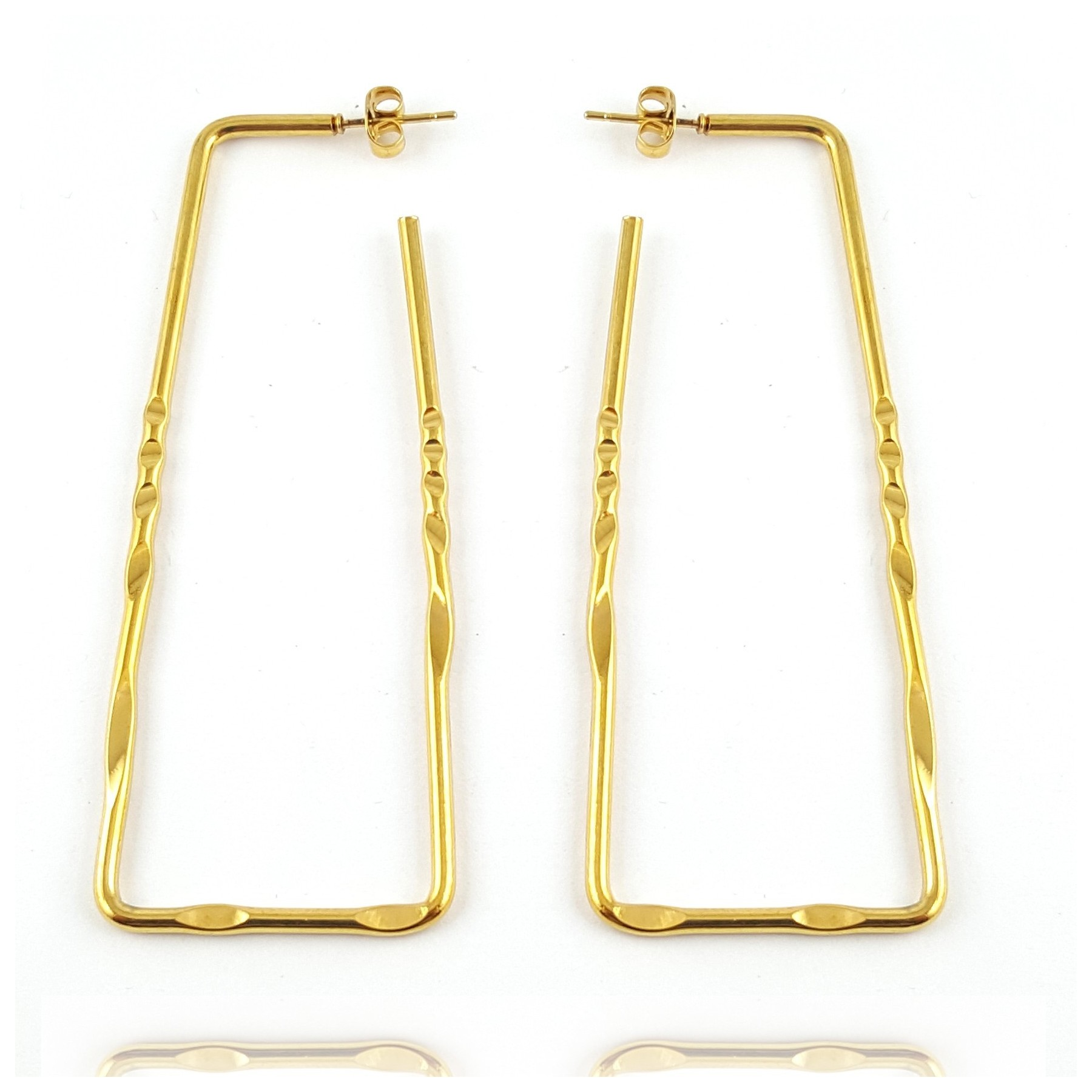 Boucles d'oreilles grand rectangle design