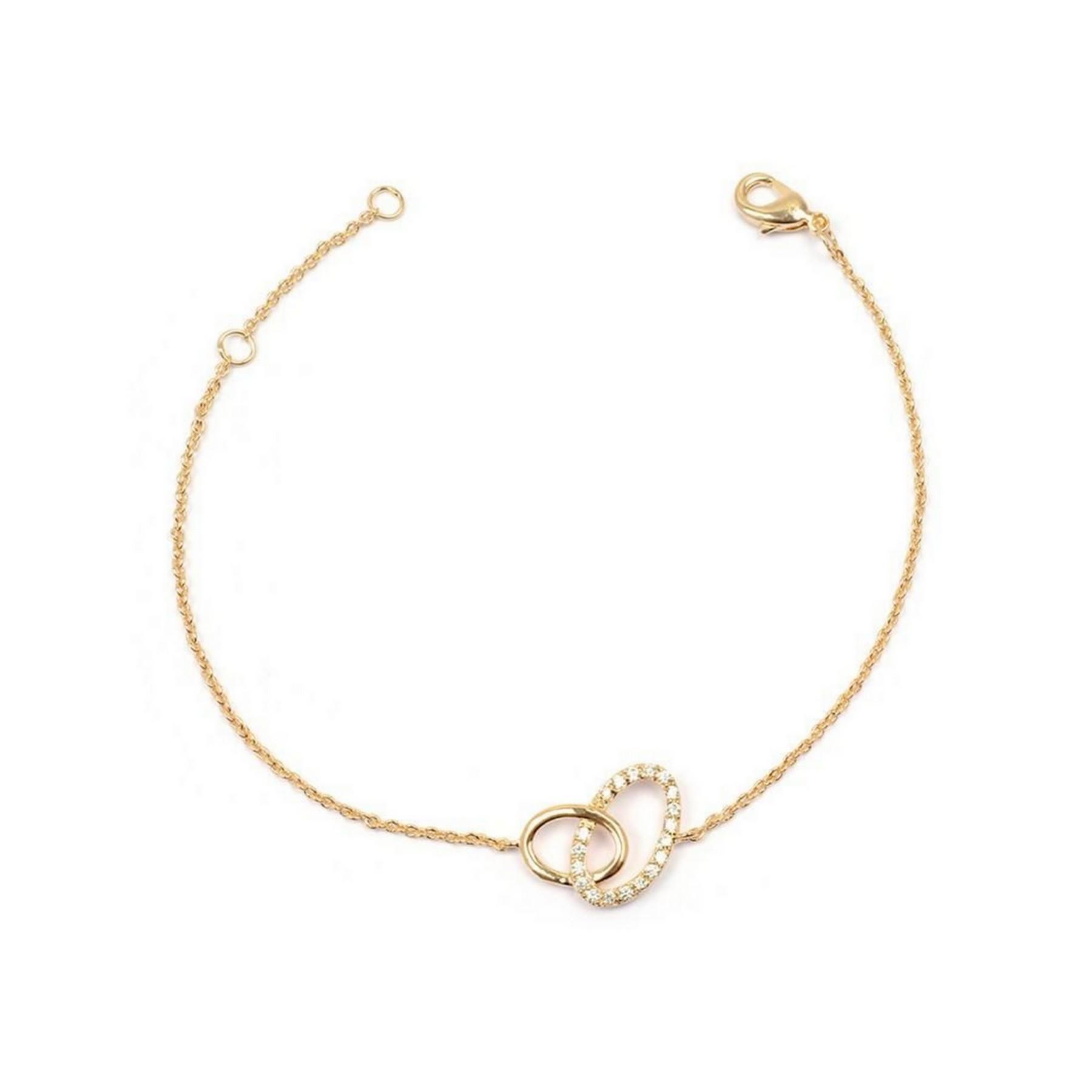 Bracelet double ovale