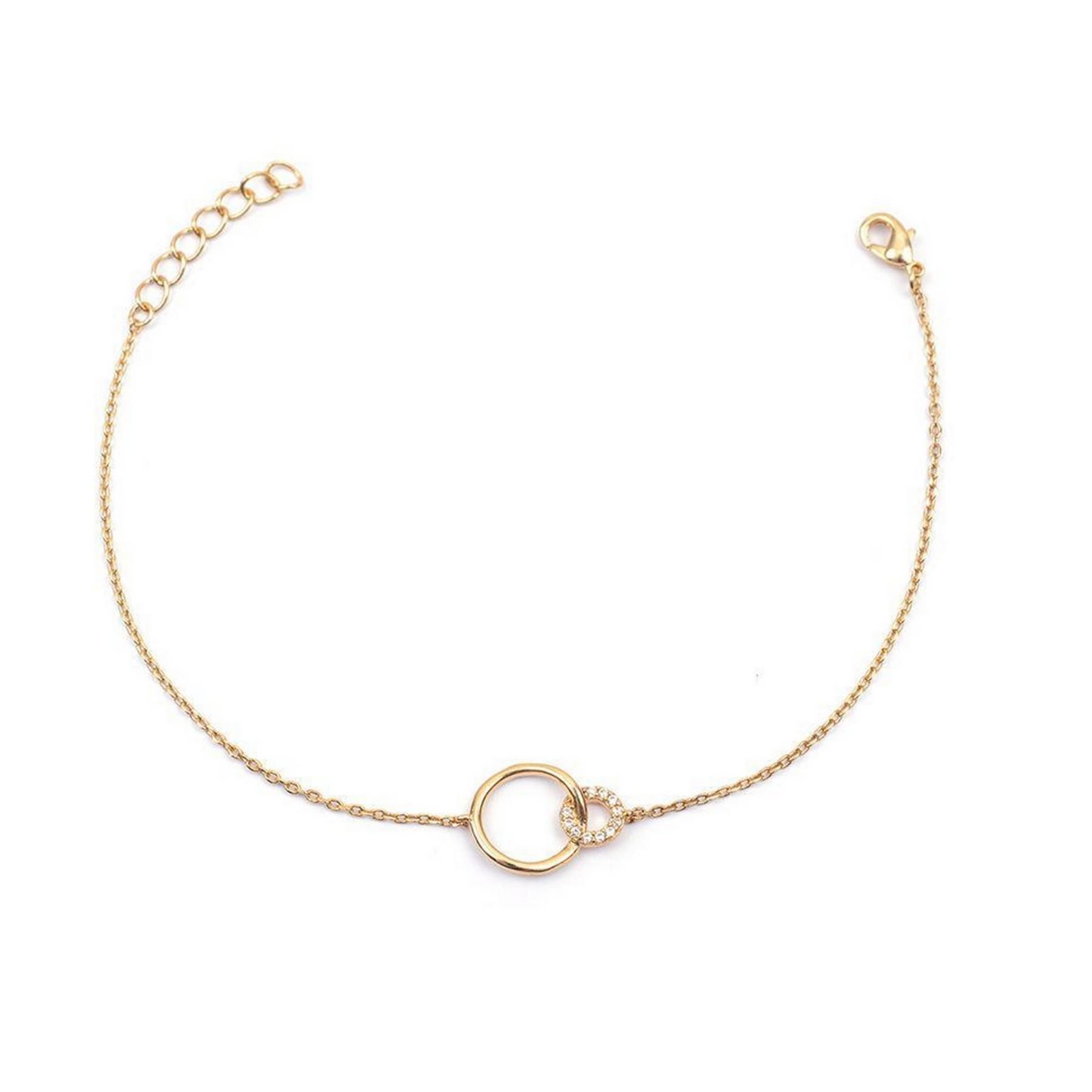 Bracelet double ronds entrelacés