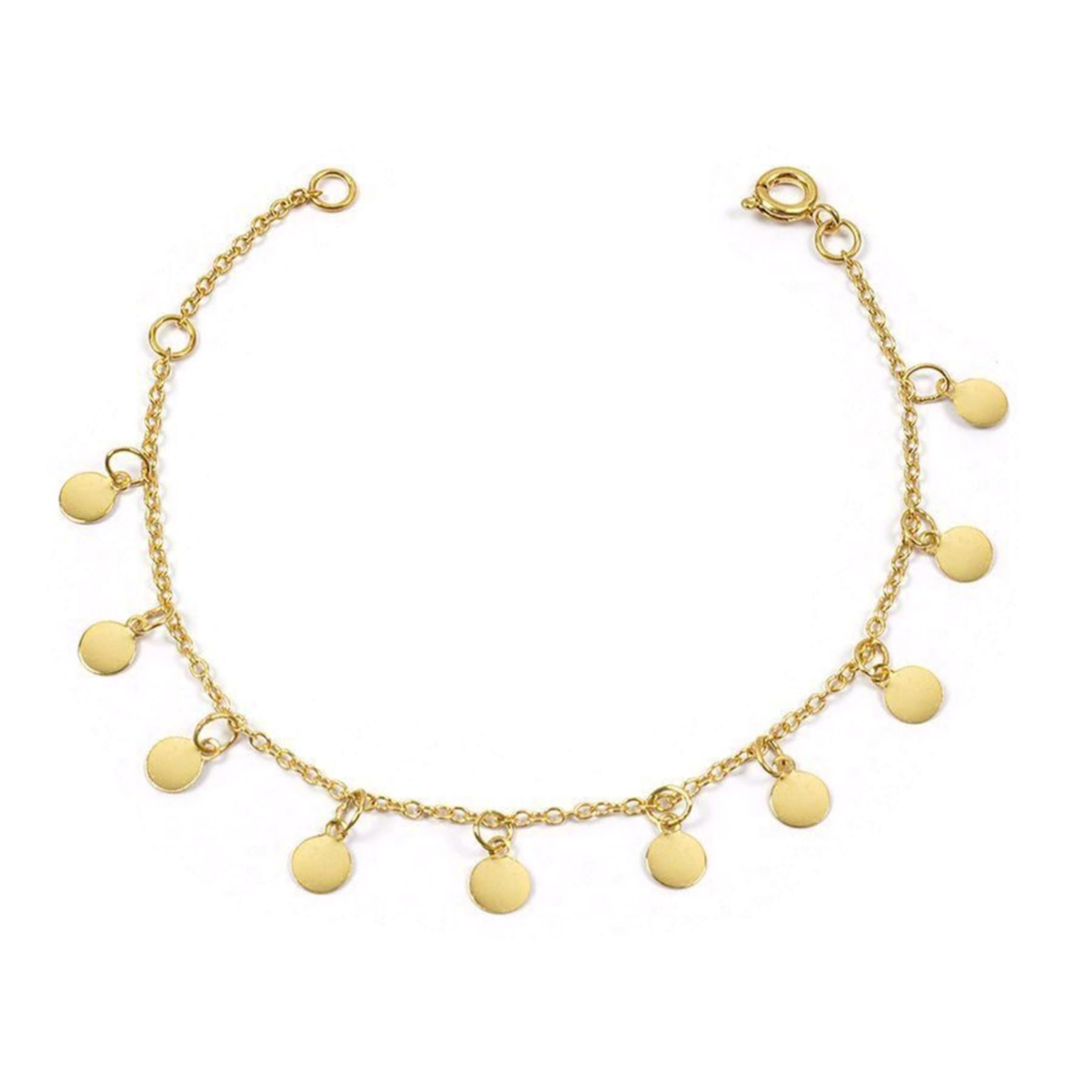 Bracelet plaqué or pampilles