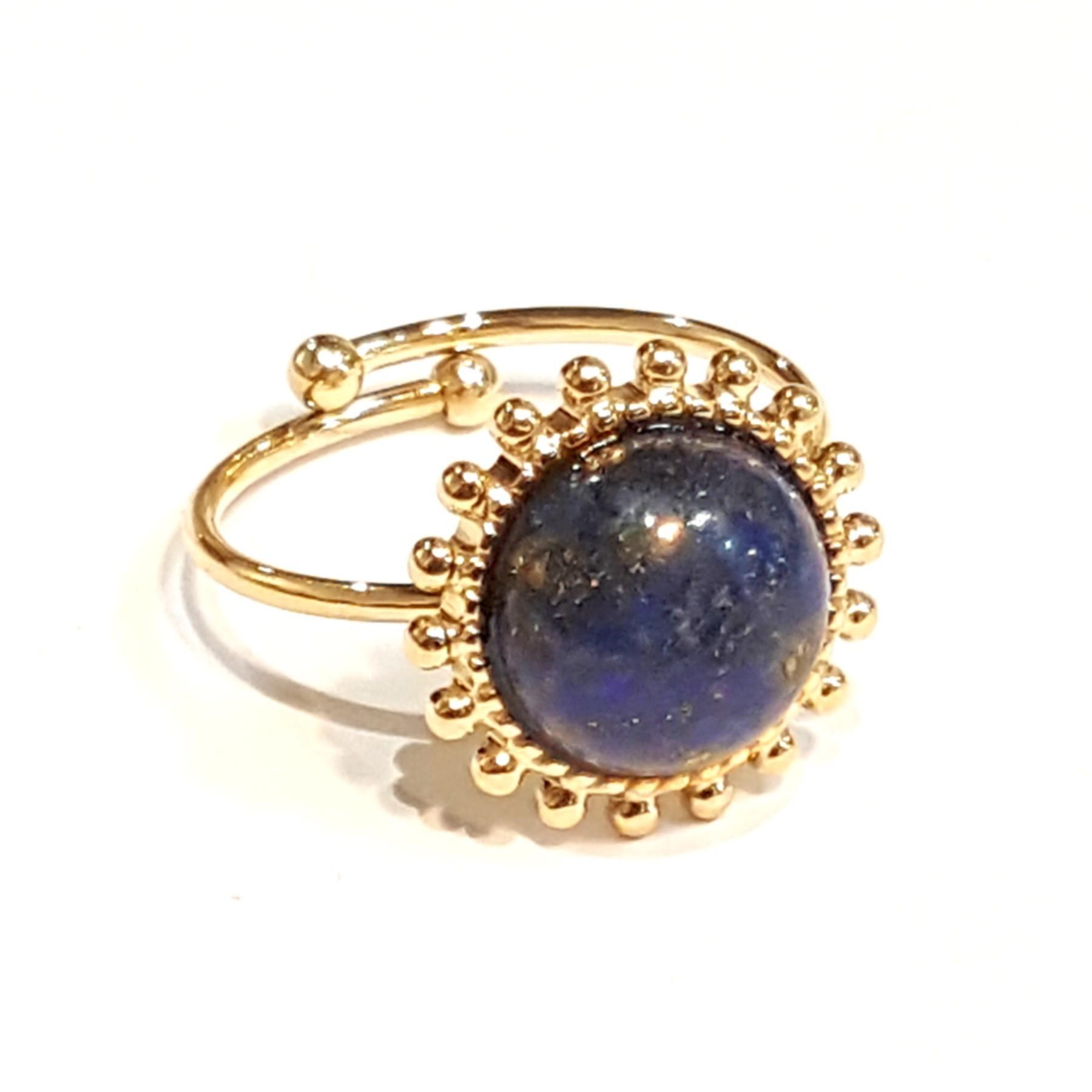 Bague solaire lapis lazuli