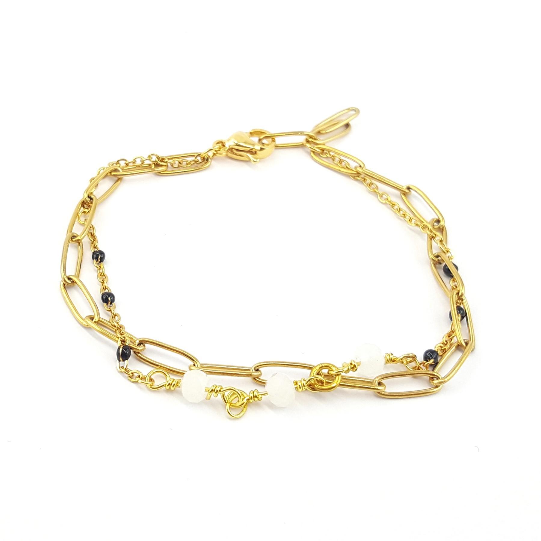 Bracelet double rang - Jasper