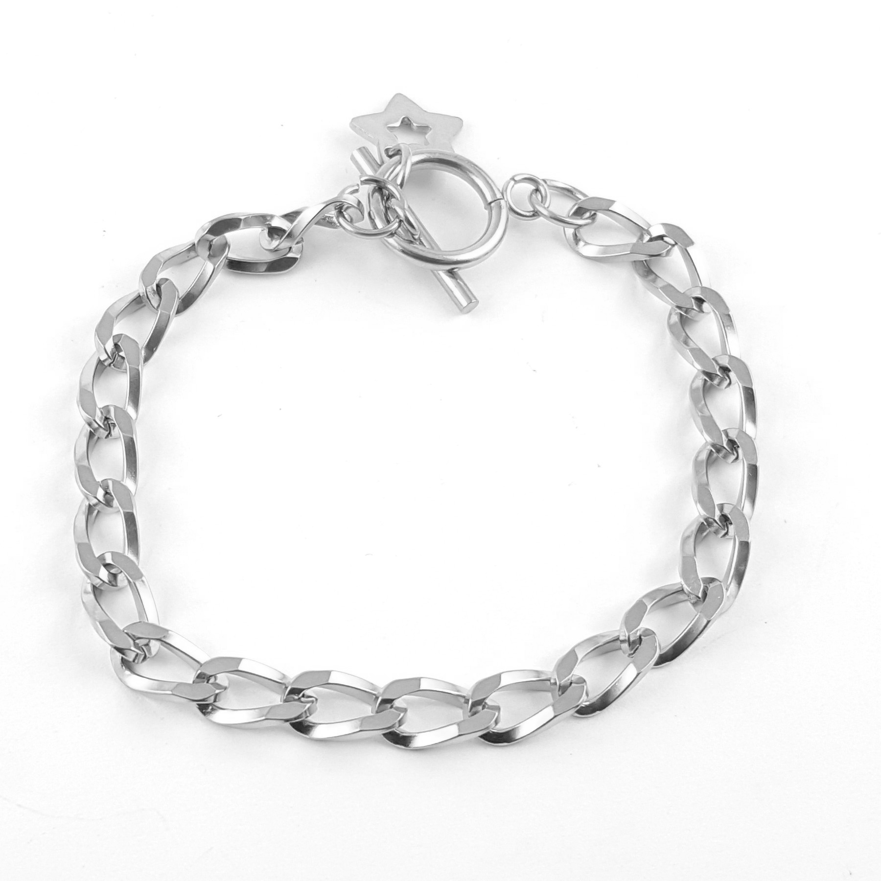 Bracelet acier maille gourmette