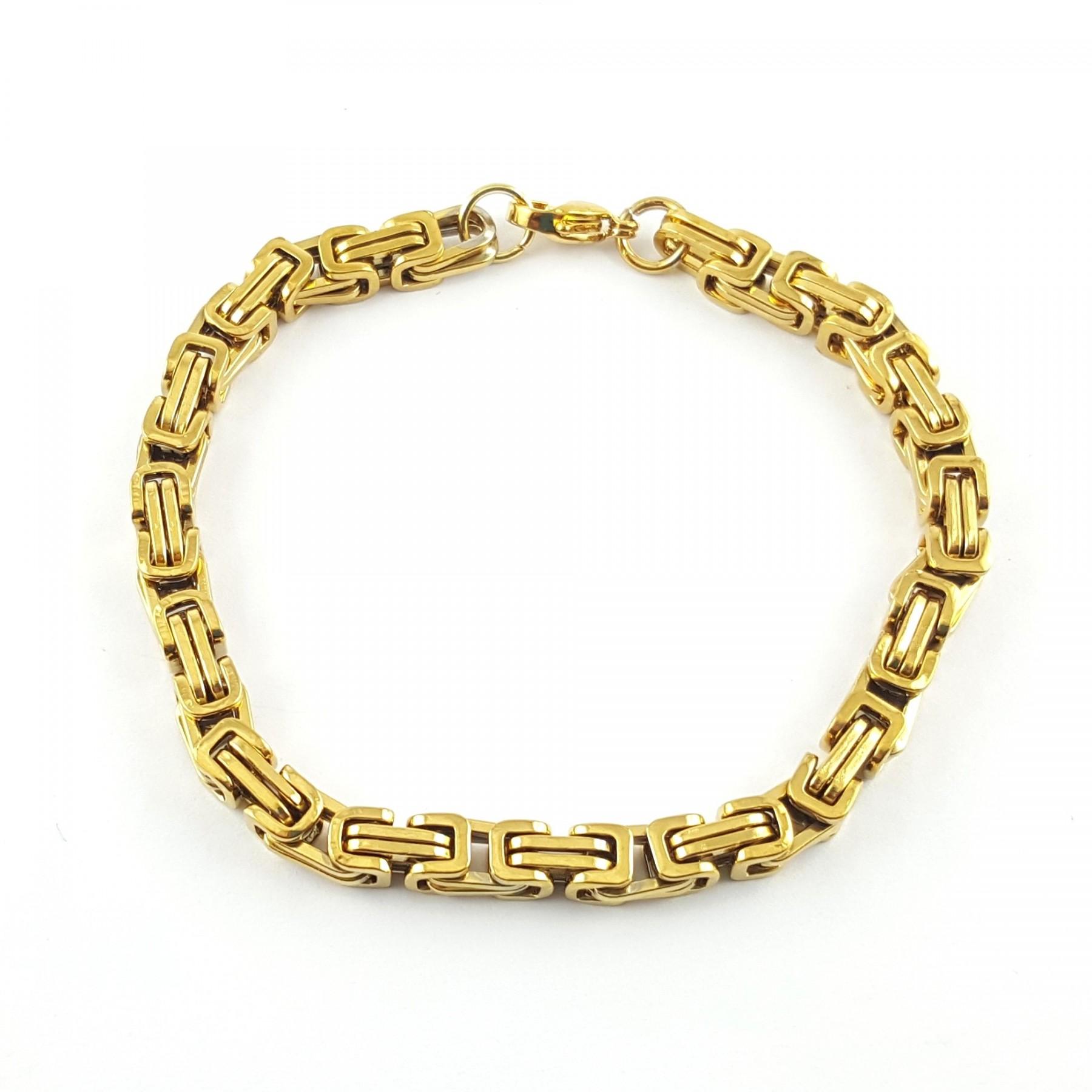 Bracelet maille carré rétro