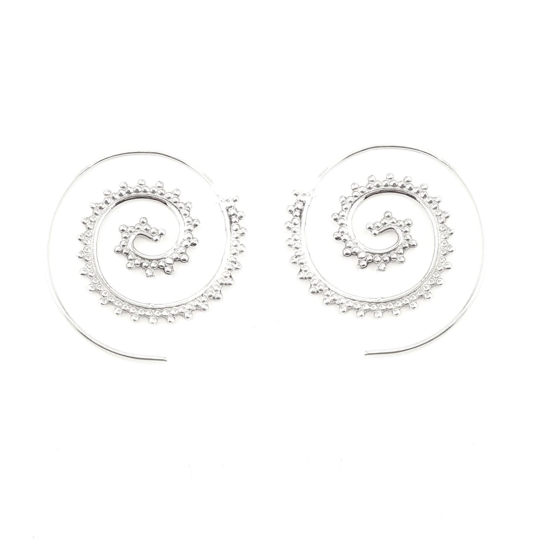 Créoles spirales argent 925