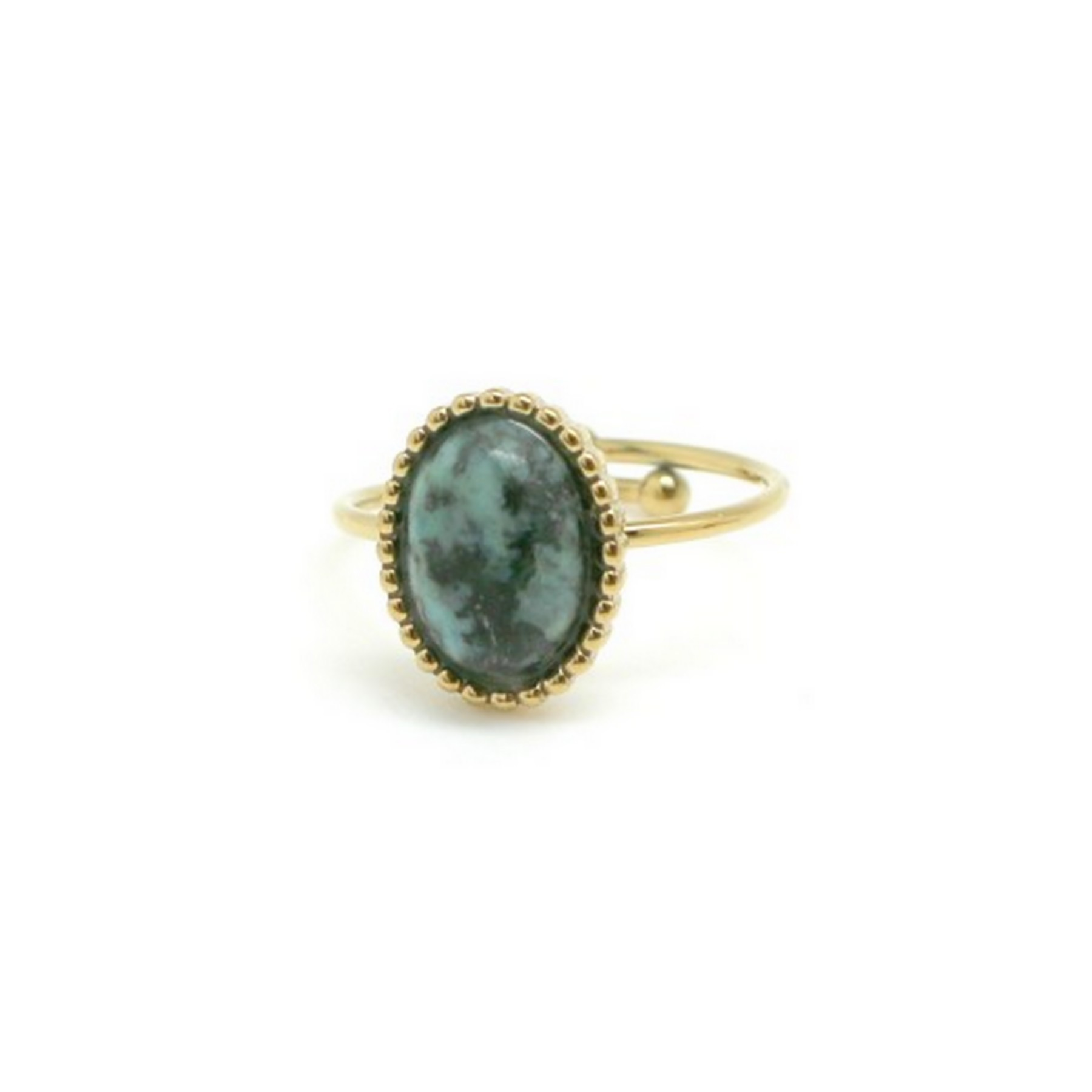 Bague ovale turquoise africaine