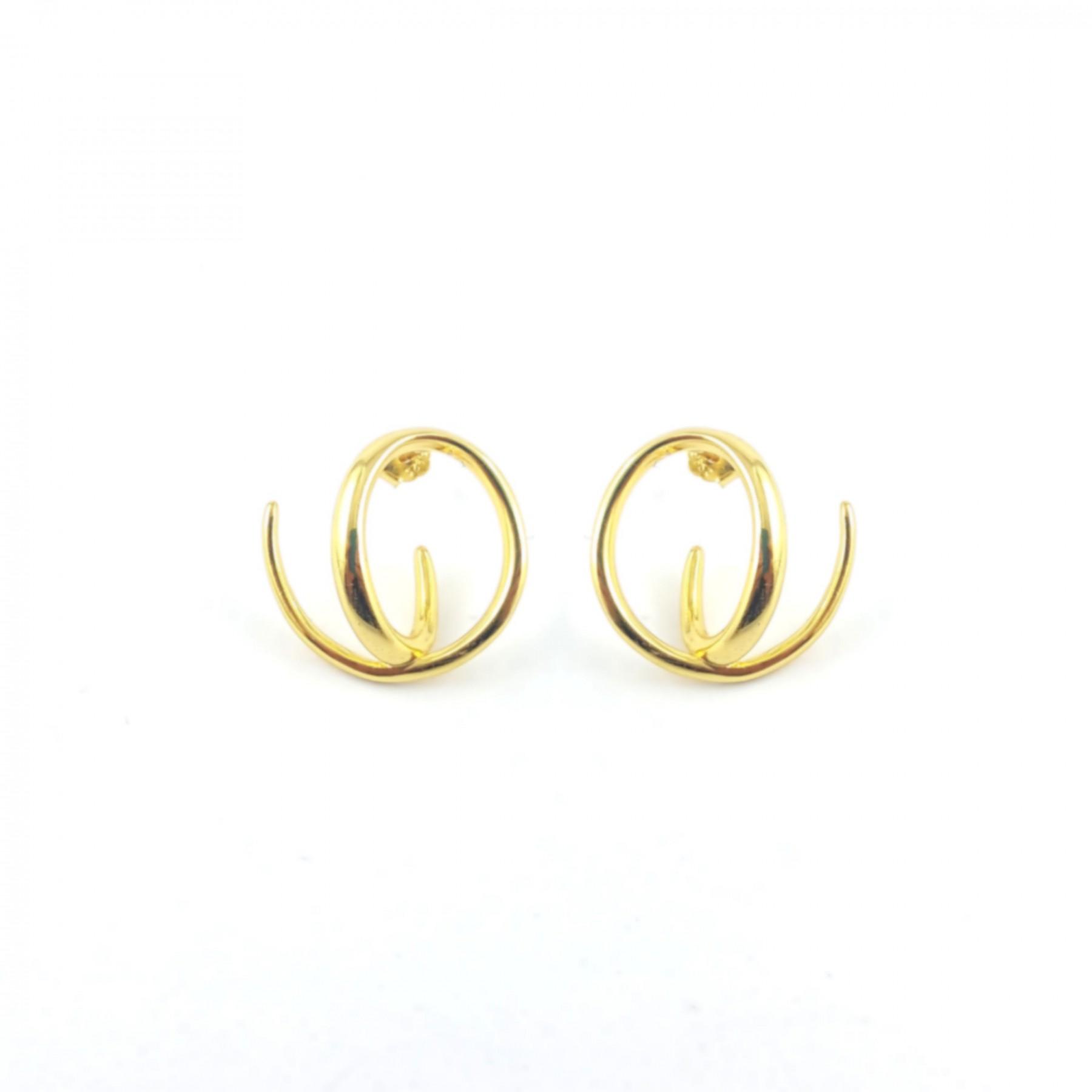 Boucles design argent doré