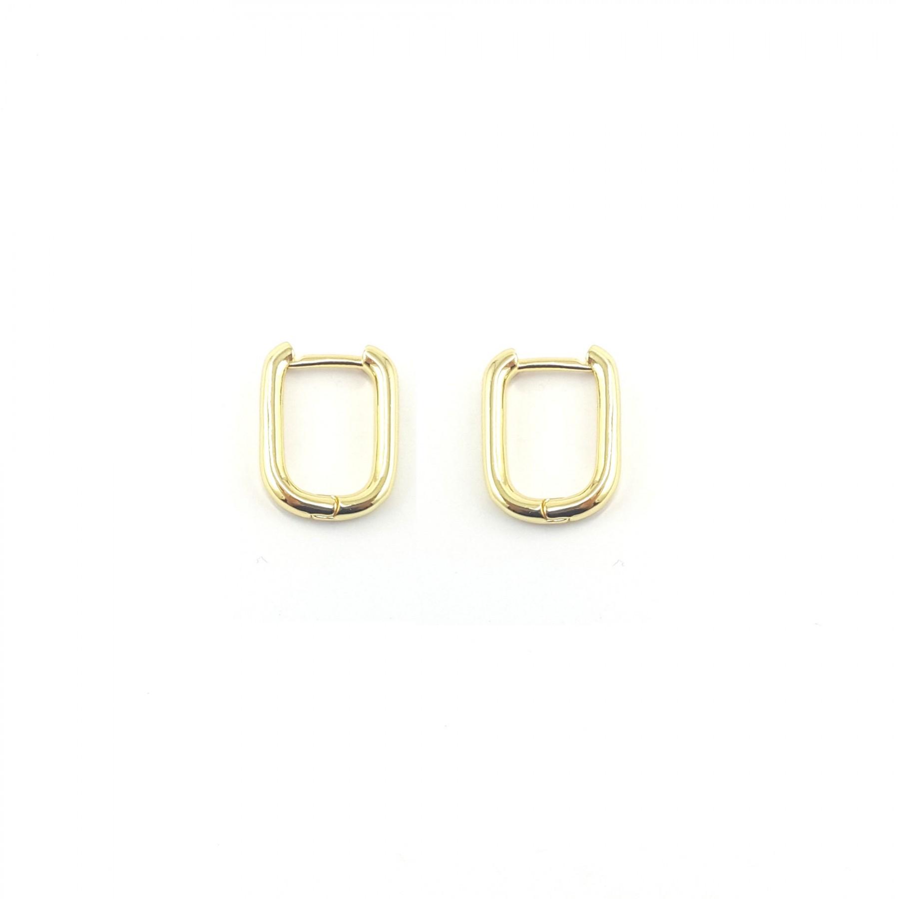 Petites créoles rectangle dorées