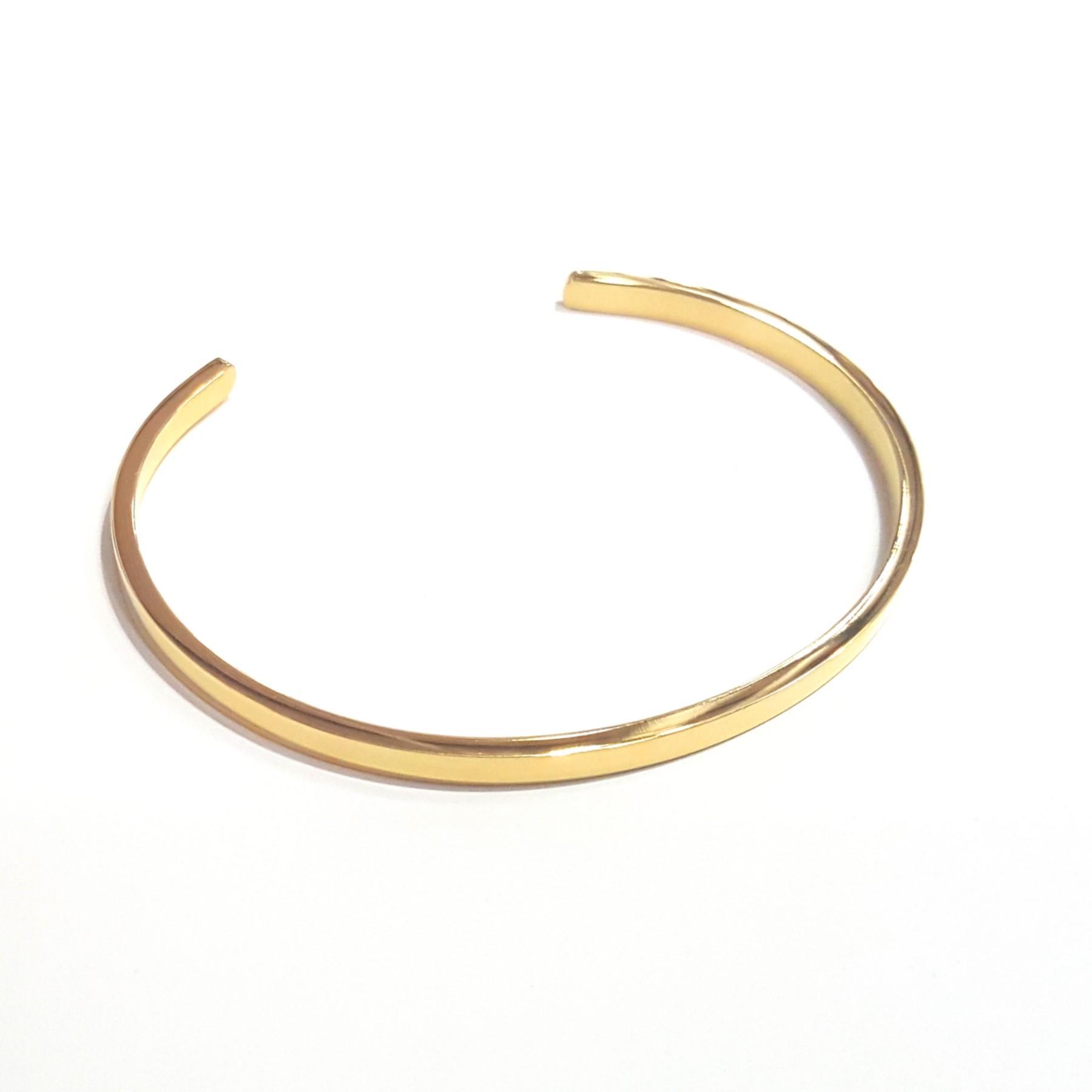 Jonc 3mm acier doré