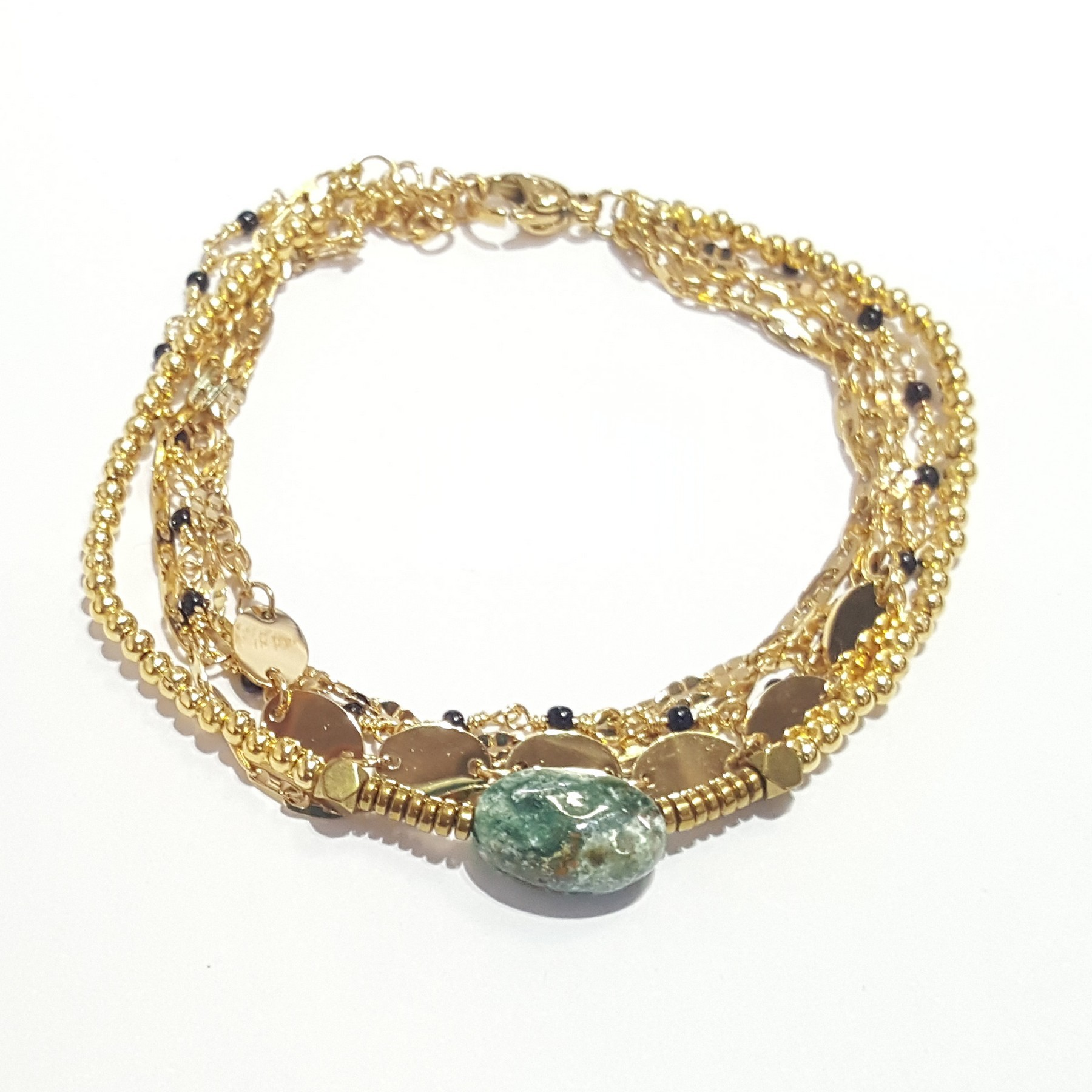 Bracelet multi-rangset pierre