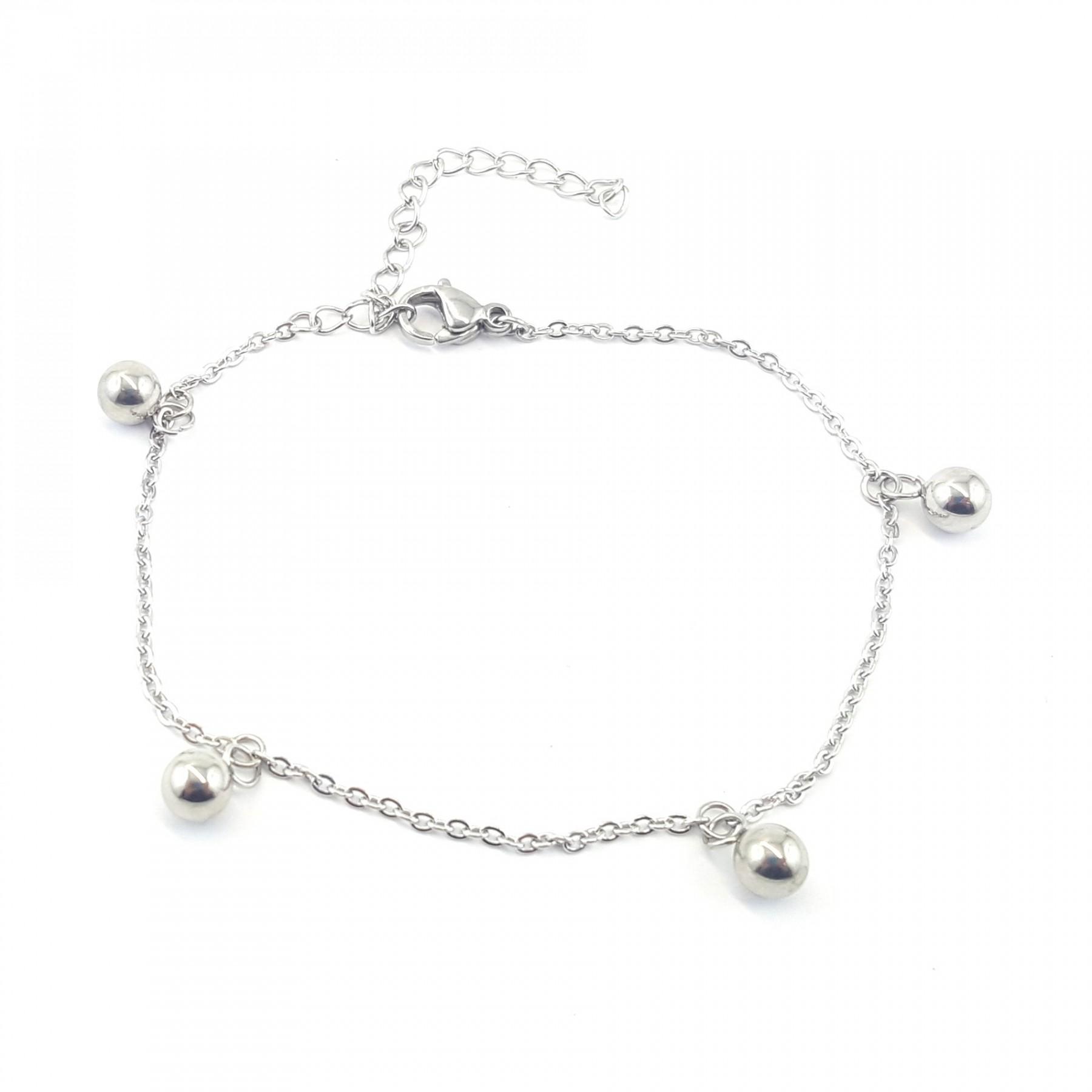 Bracelet sphères acier