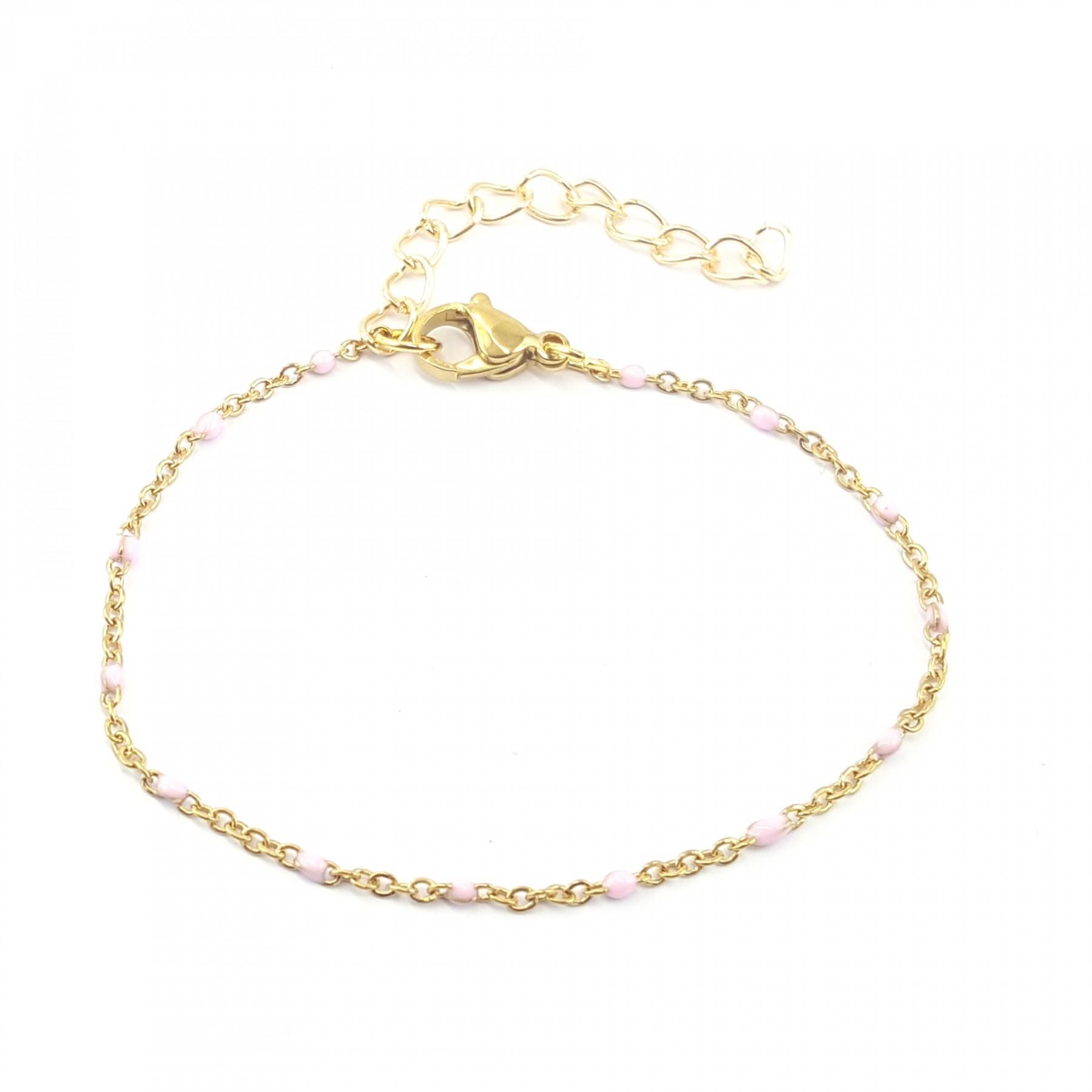 Bracelet émaillage rose
